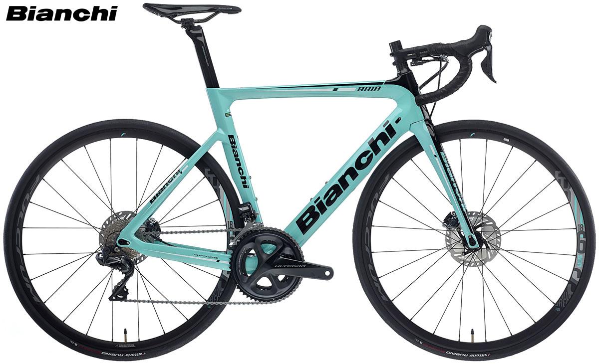 Una bicicletta Bianchi Aria Disc