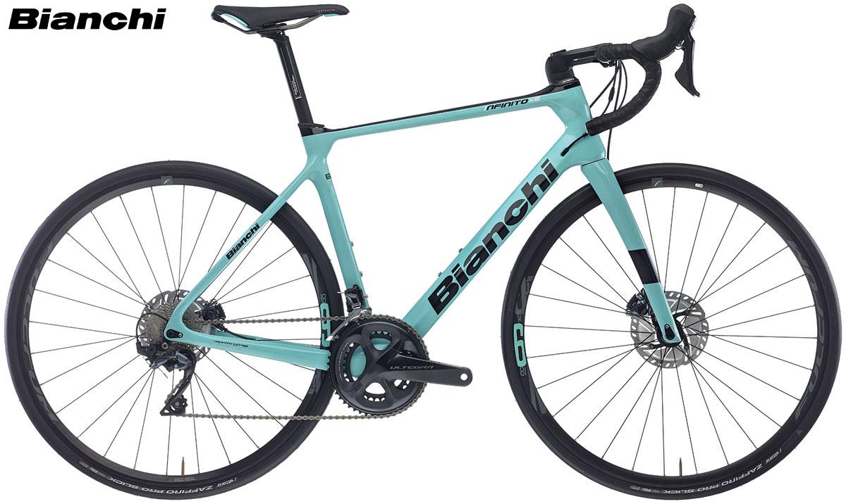 Una bicicletta Infinito XE Disc dal catalogo 2020 Bianchi