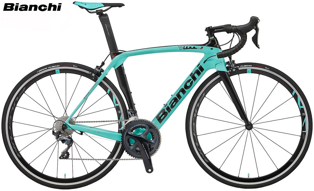 Un modello di bicicletta da corsa della piattaforma Bianchi Oltre XR.3 dal catalogo 2020