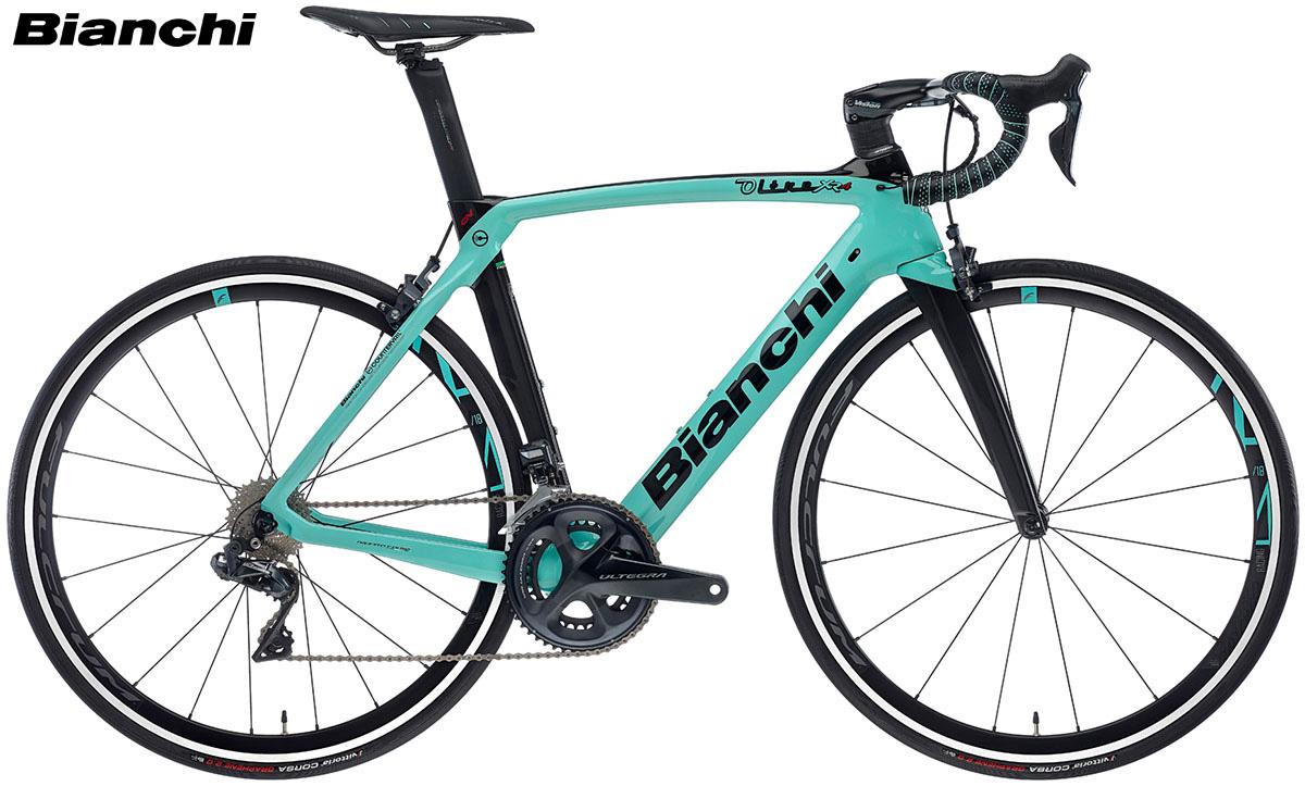 Una bici da strada Bianchi Oltre XR.4 per la stagione 2020