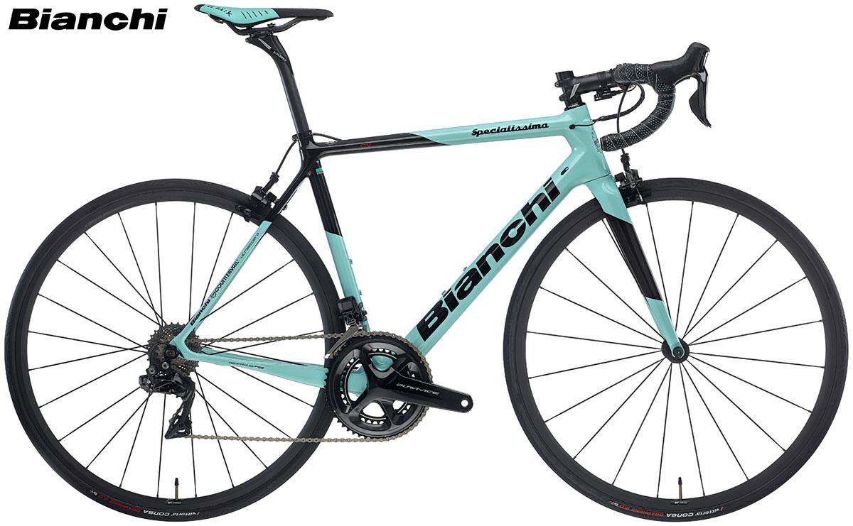 Una bicicletta Bianchi Specialissima gamma 2020