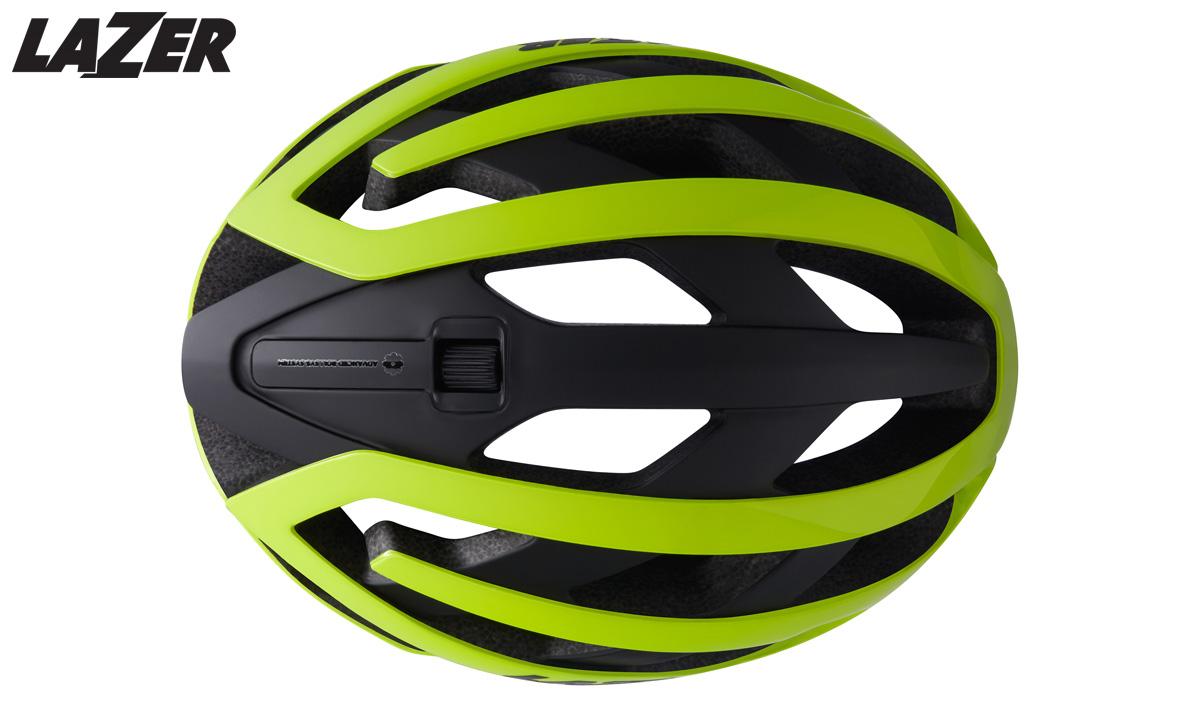 La parte superiore del casco ciclista Lazer Genesis 2020