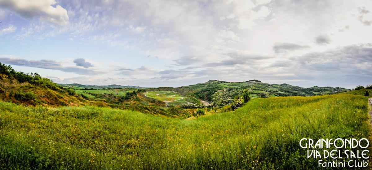 Le strade bianche e le colline attorno a Cervia