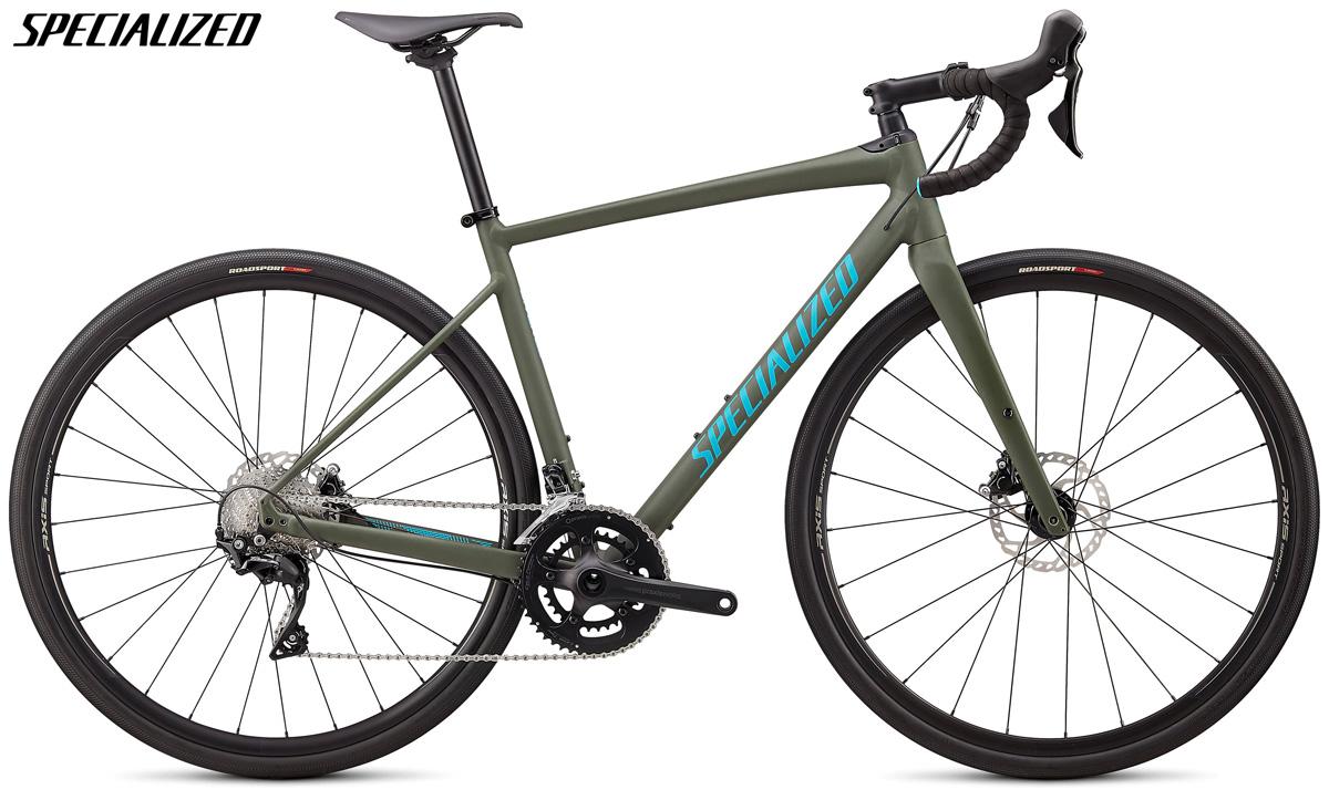 Una bici gravel Specialized Diverge Comp E5 con cambio Shimano 105