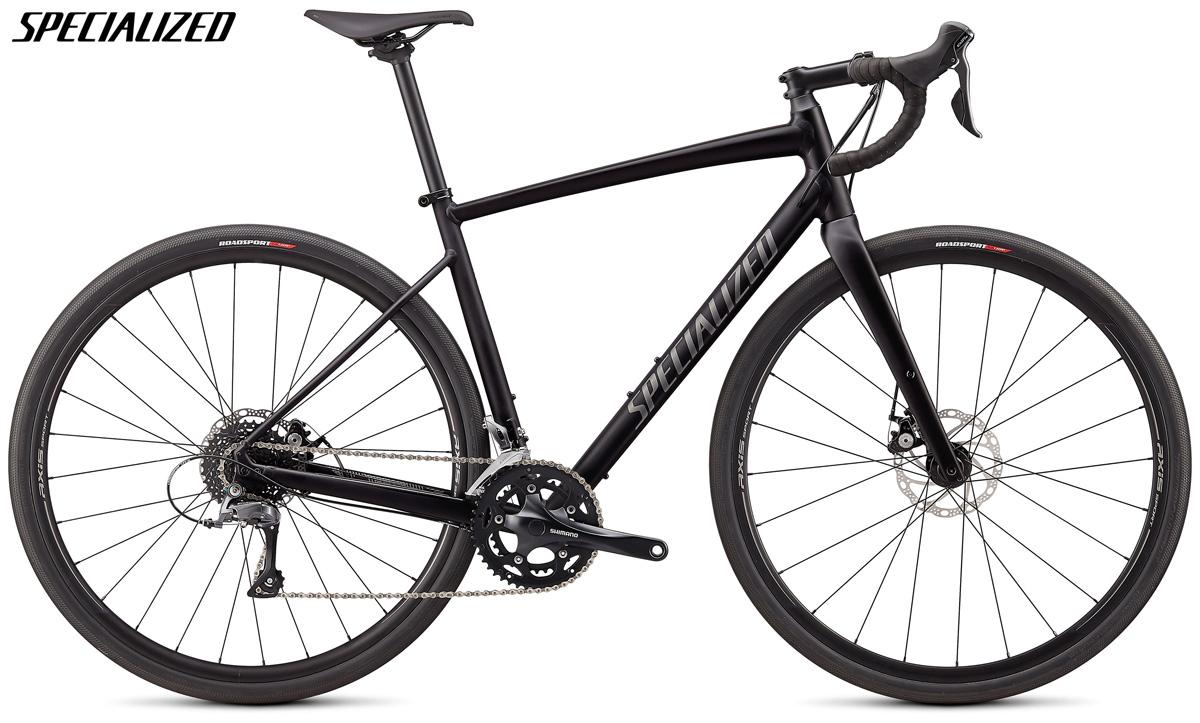 Una bicicletta da gravel Specialized Diverge E5 con cambio Shimano Claris