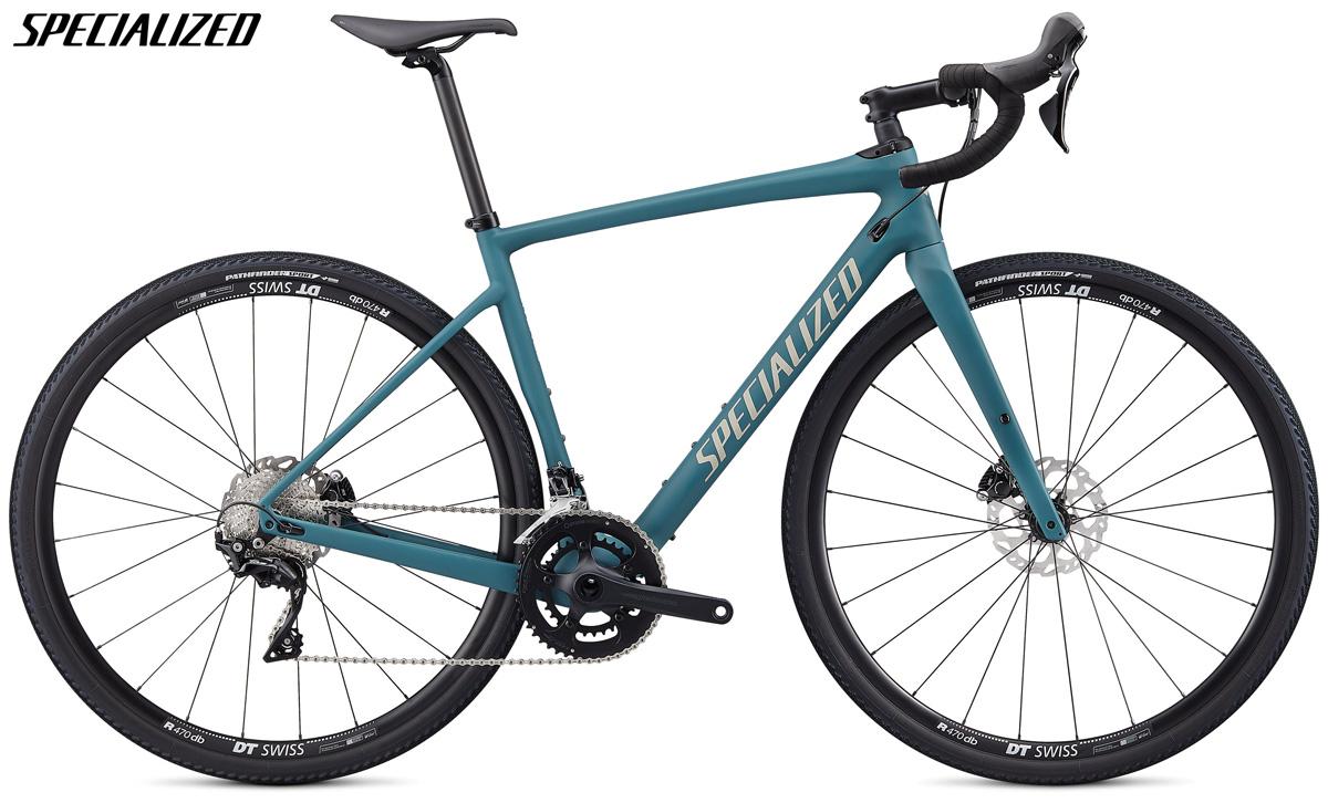 Una bici gravel Specialized Diverge Sport con telaio in carbonio