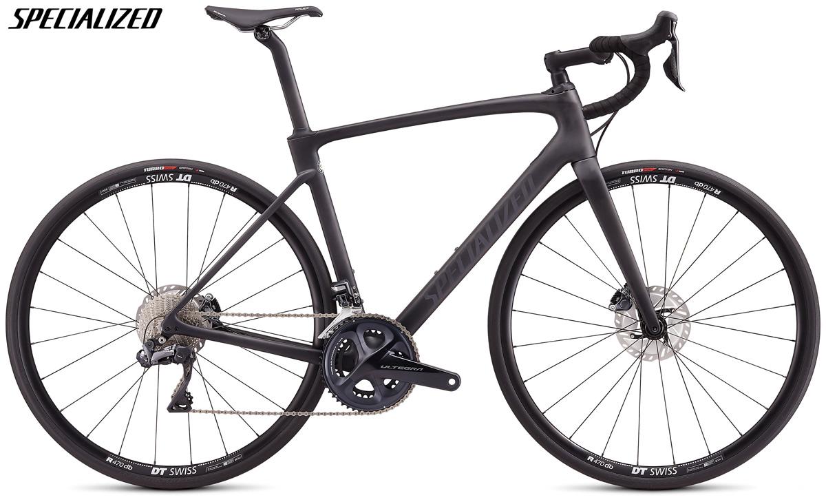 Una bicicletta da corsa Specialized Roubaix Comp con cambio Shimano Ultegra Di2