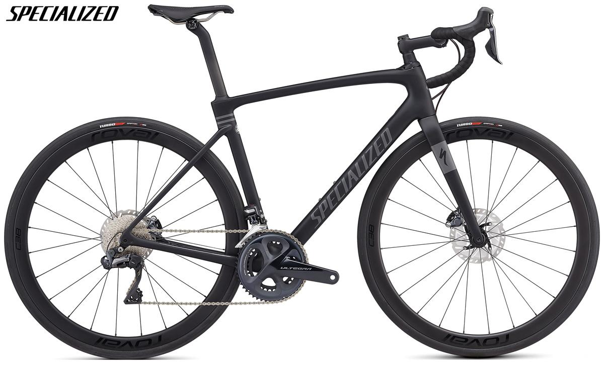 Una bici Specialized Roubaix Expert con trasmissione Shimano Ultegra Di2