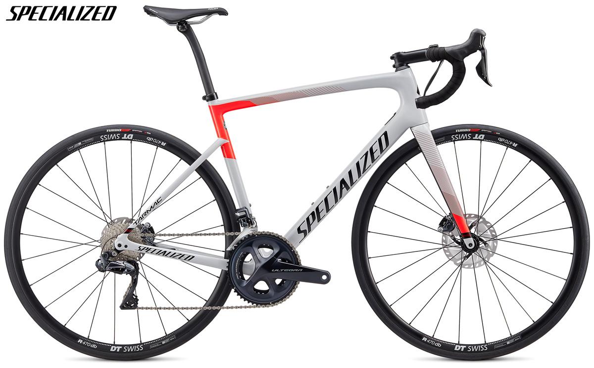 Una bicicletta Specialized Tarmac Disc Comp con cambio Shimano Ultegra Di2
