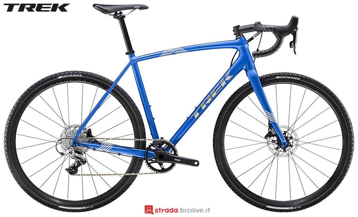 Una bici da cycloross Trek Crockett 5 Disc 2020 con trasmissione SRAM Rival 1