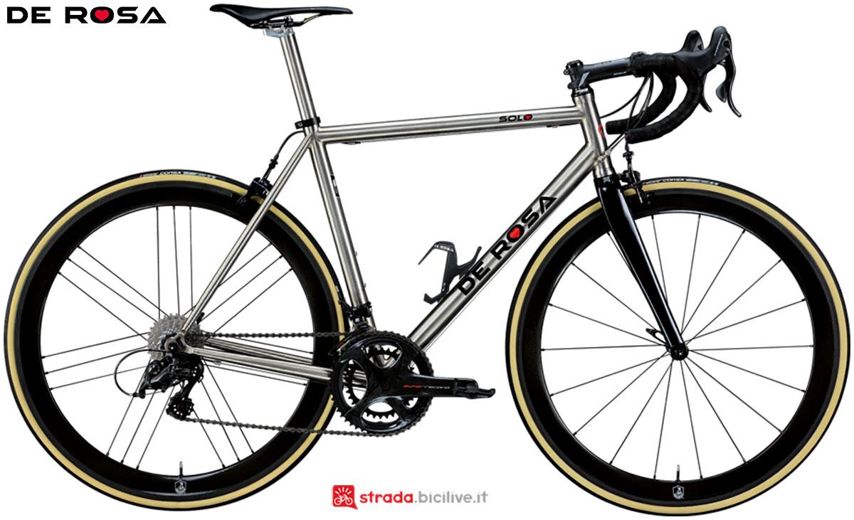 Una bici De Rosa Titanio Solo 2020