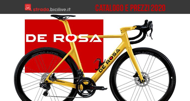 De Rosa 2020 bici da strada e telai: catalogo e listino prezzi