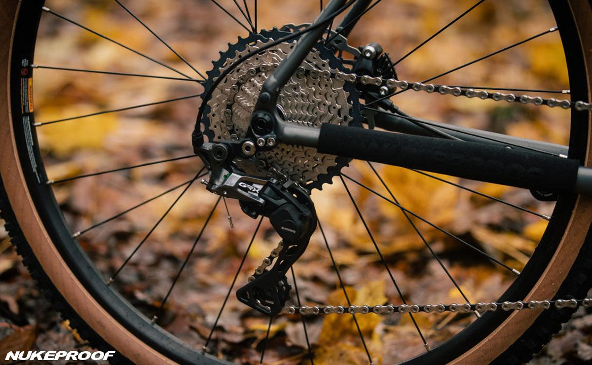 Il gruppo trasmissione montato sulla bici Nukeproof Digger 2020