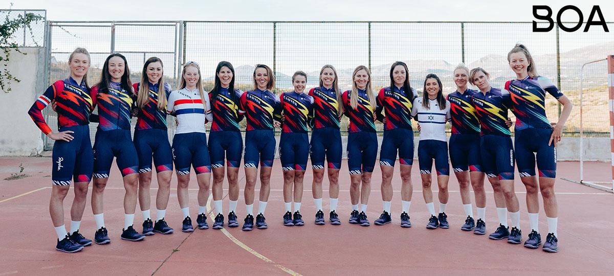 La formazione femminile del team team Canyon/Sram 2020