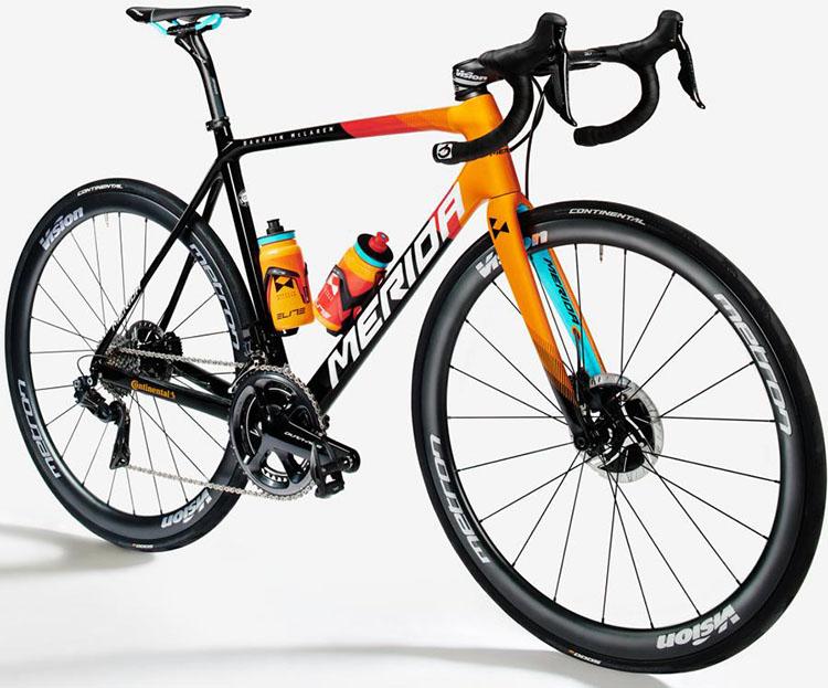 La bici Merida Reacto 9000-E (Bahrain-Mclaren) 2020