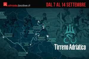 Tirreno-Adriatico 2020: la gara a tappe dal 7 al 14 settembre