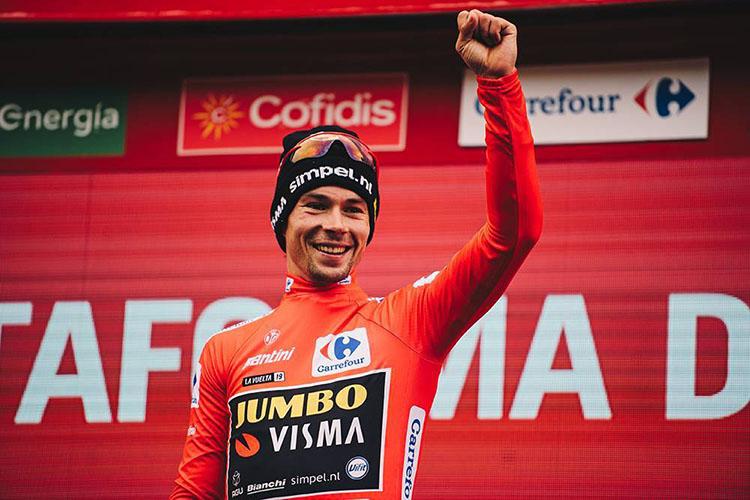 Il vincitore della Vuelta di Spagna 2019 Primoz Roglic