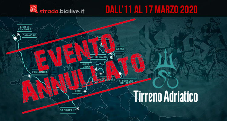 Tirreno-Adriatico 2020: gara a tappe annullata