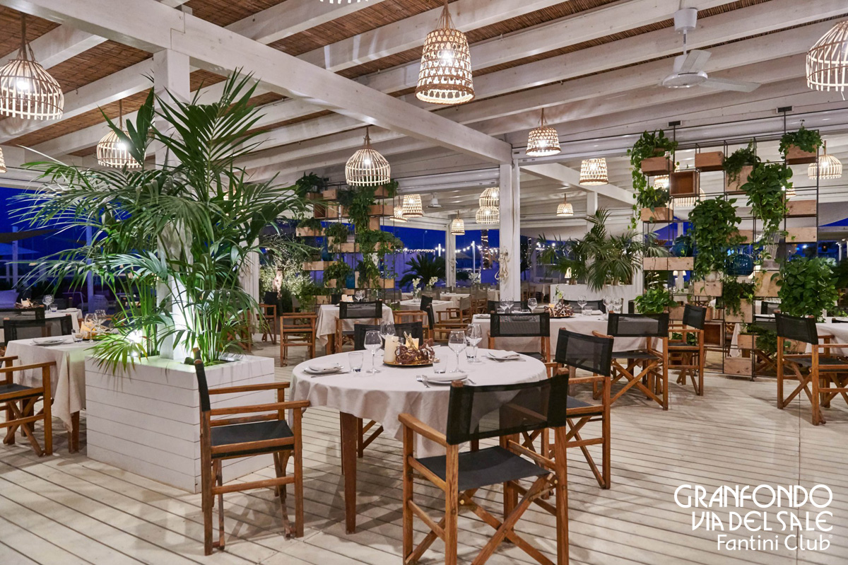 Il ristorante Calamare all'interno del Fantini Club di Cervia