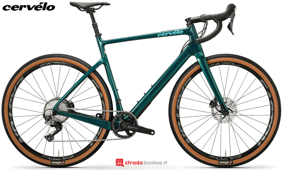 Una bici Cervélo Aspero Disc 2020 con gruppo trasmissione Shimano GRX