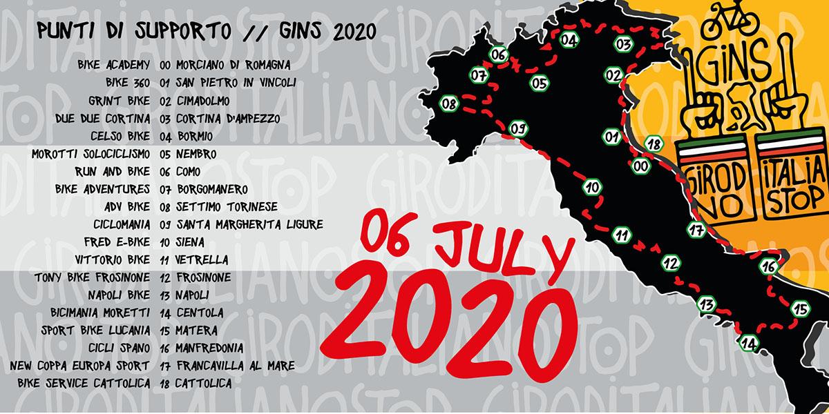 I Punti di supporto della GIRODITALIANOSTOP 2020
