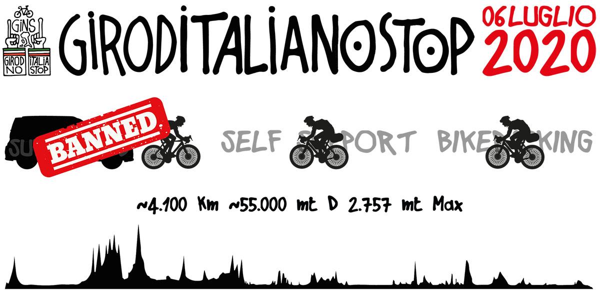 Locandina evento GIRODITALIANOSTOP 2020
