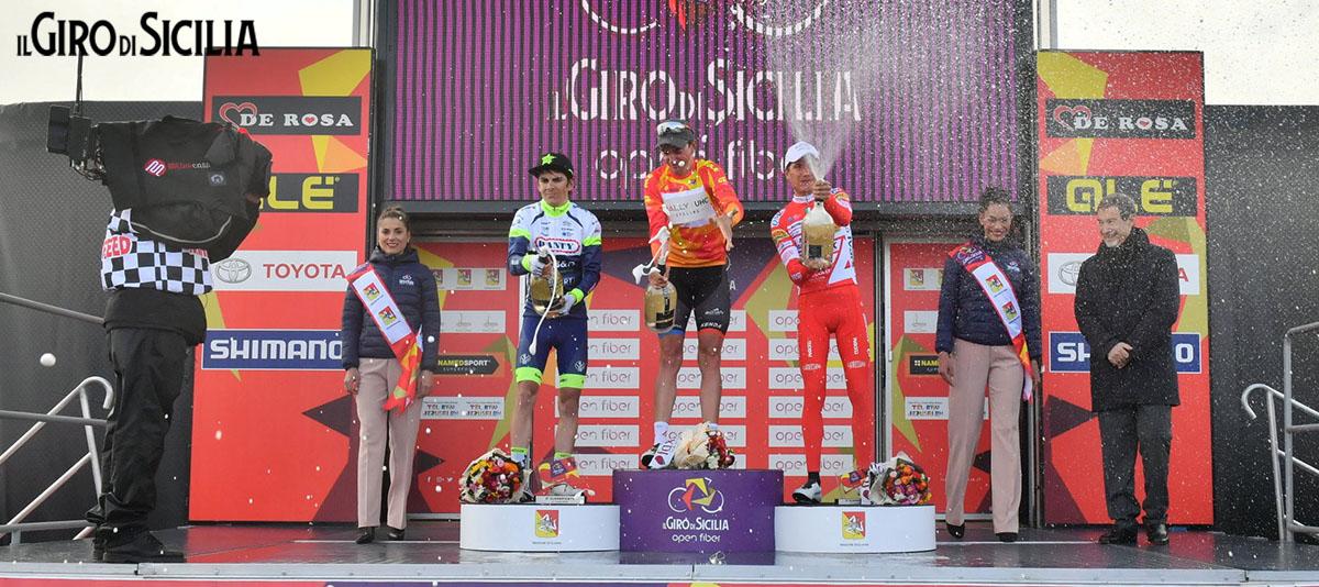 Podio vincitore Giro di Sicilia 2019 Brandon McNulty