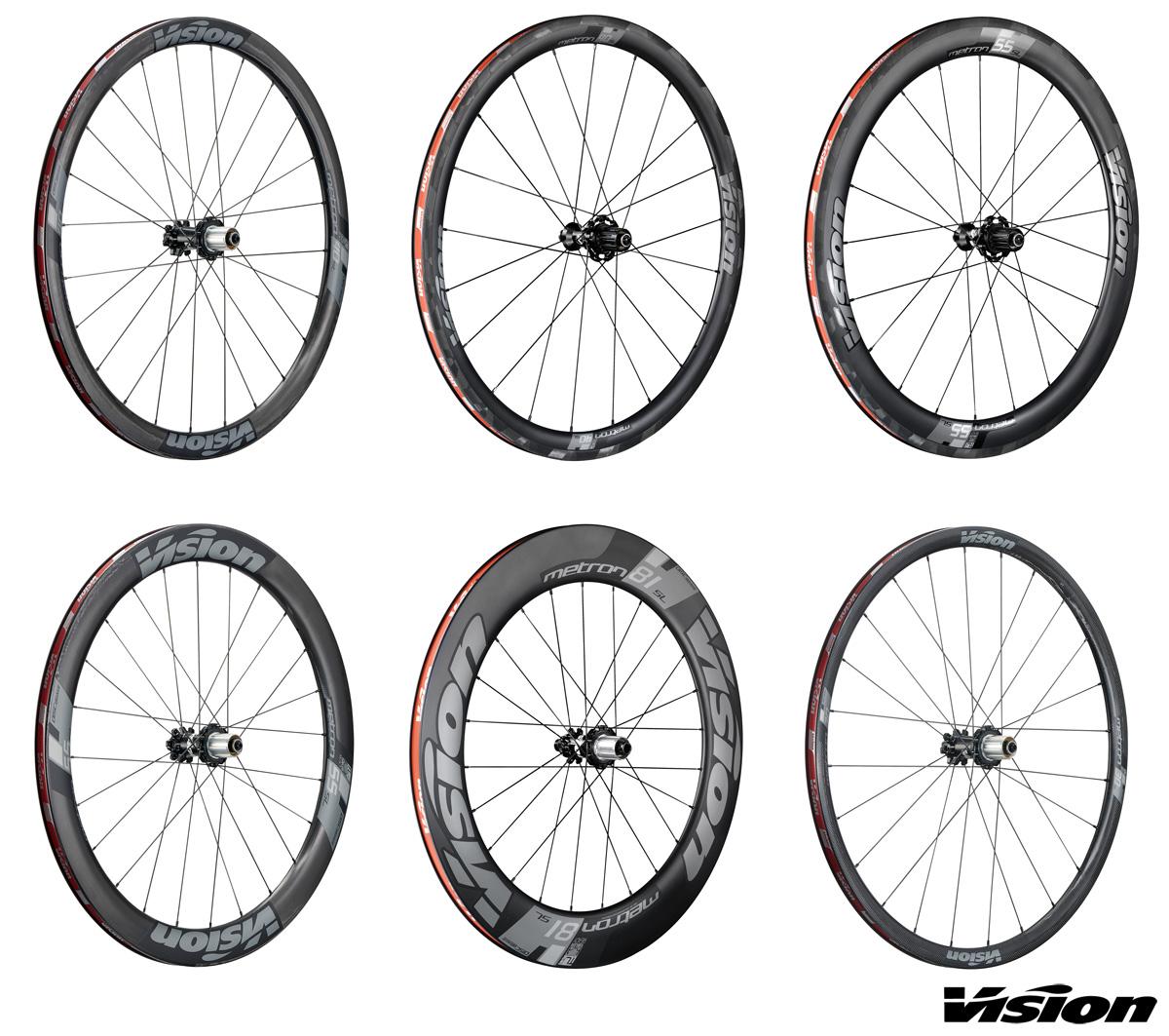 Nove modelli di ruote Vision Metron