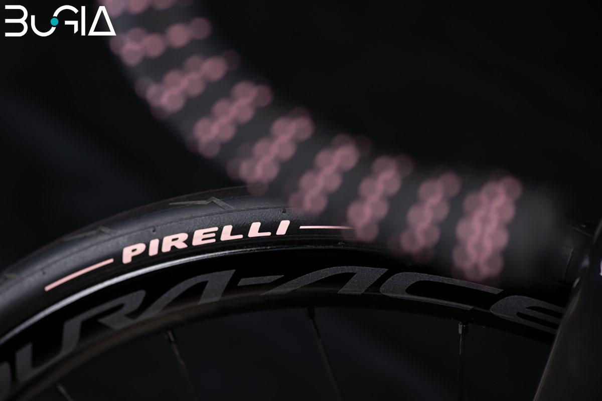 La bici BuGia Rosa con Pneumatici Pirelli Pzero 2020