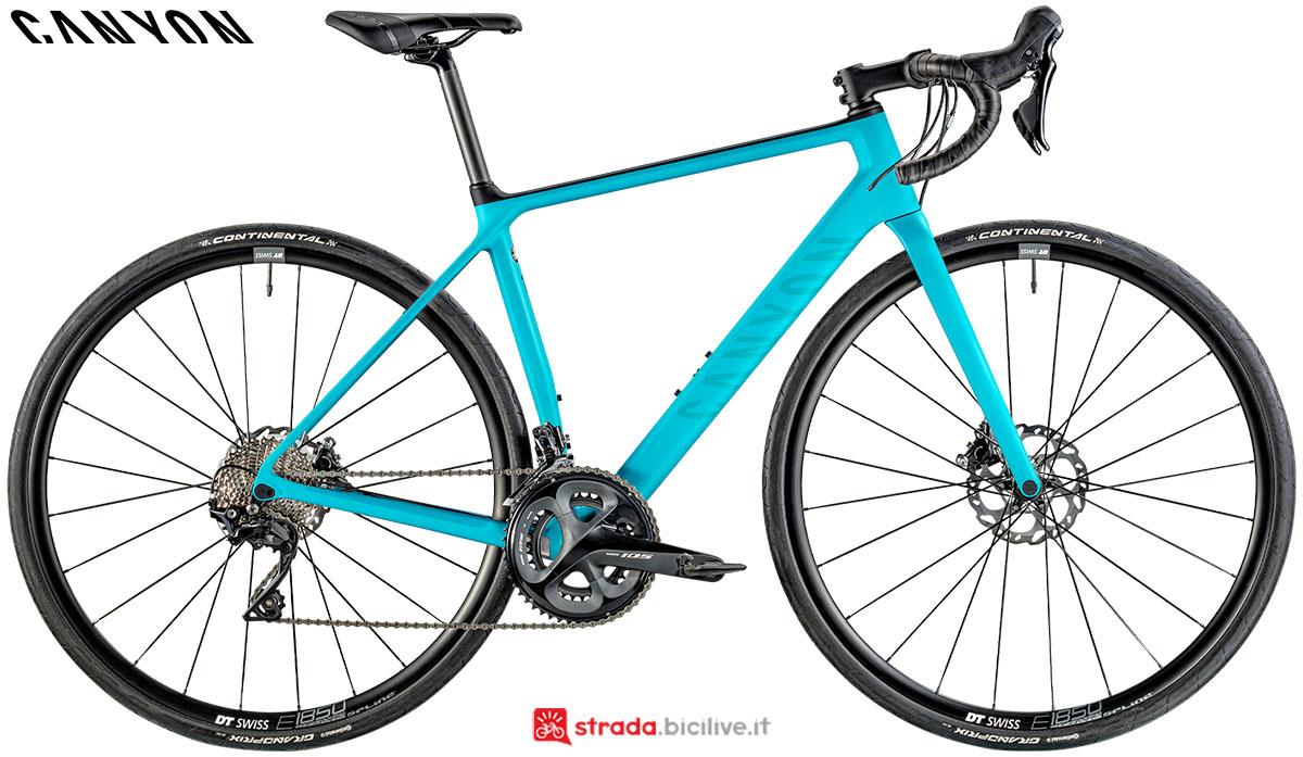 Una bici Canyon Endurance WMN CF SL Disc 7.0 2020