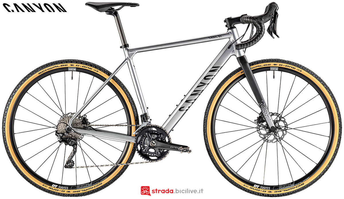 Una bici Canyon Grail AL 6.0 2020