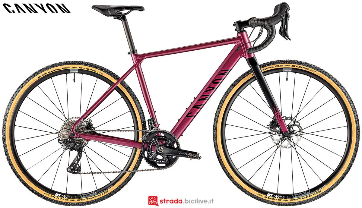 Una bici Canyon Grail AL 7.0 2020