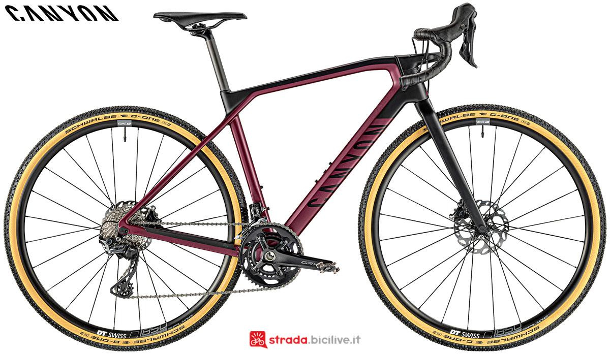 Una bici Canyon Grail WMN CF SL 7.0 2020