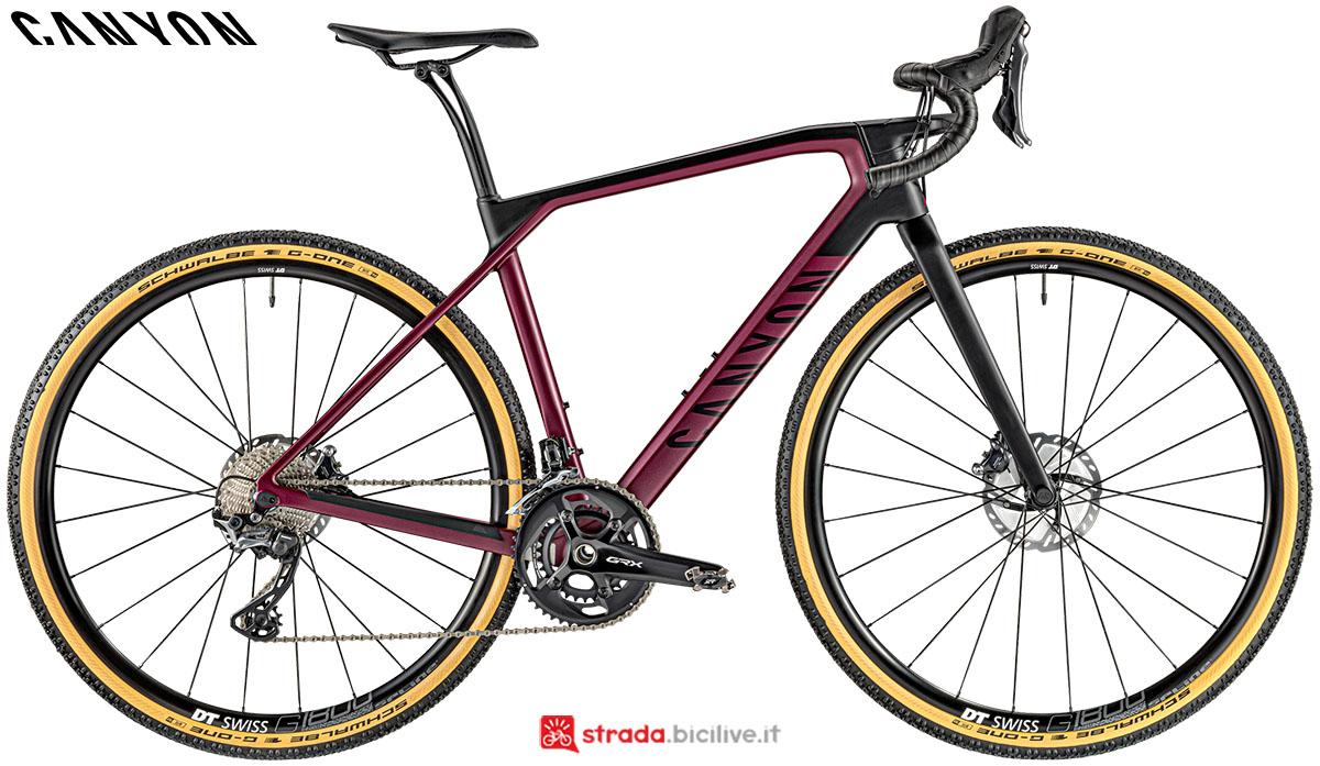 Una bici Canyon Grail WMN CF SL 8.0 2020