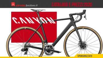 Le bici da strada, gravel e cross 2020 di Canyon: catalogo e listino prezzi