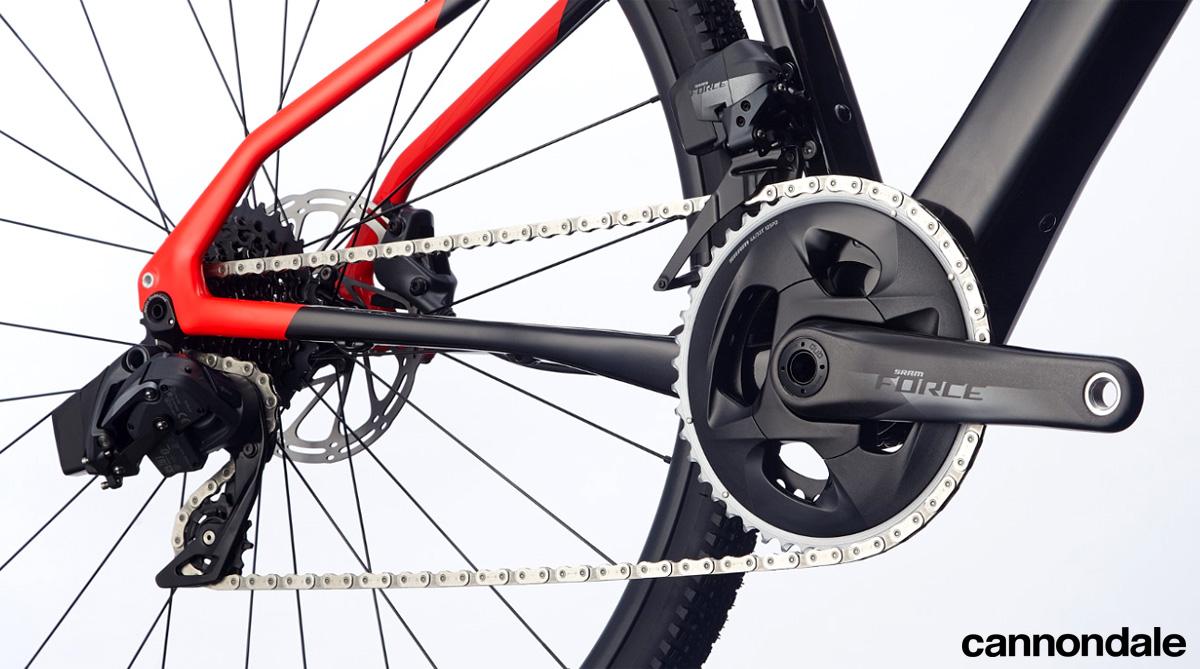 Il gruppo trasmissione wireless della bici Cannondale Topstone Carbon Force eTap AXS 2020