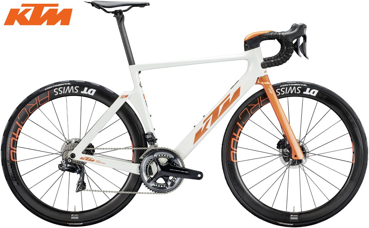 La bicicletta da corsa aero KTM Revelator Lisse Prestige 2020 con cambio Dura-Ace Di2