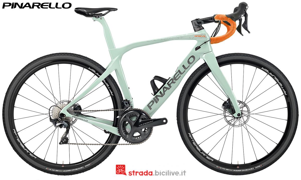 Una bici gravel Pinarello Grevil dal catalogo 2020