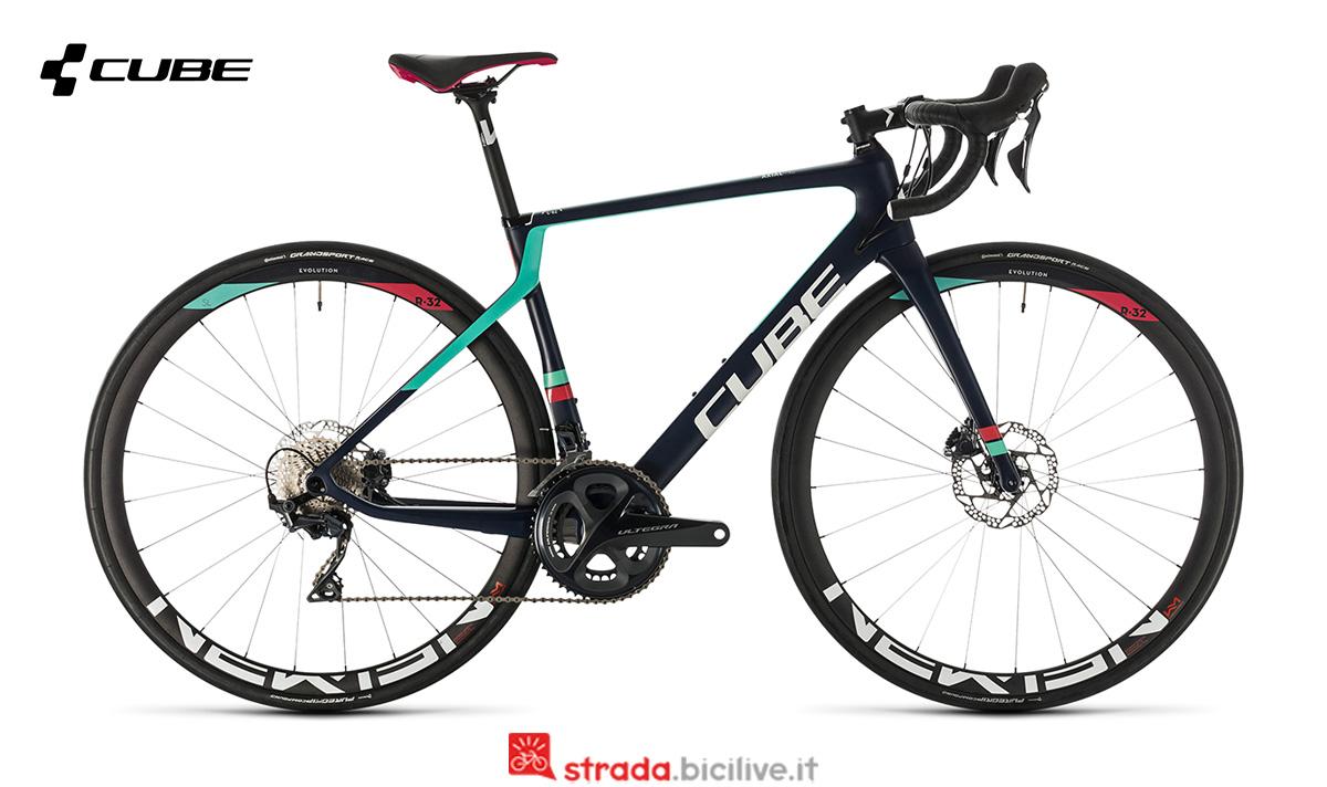 una bici Cube Axial WS C:62 sl di lato