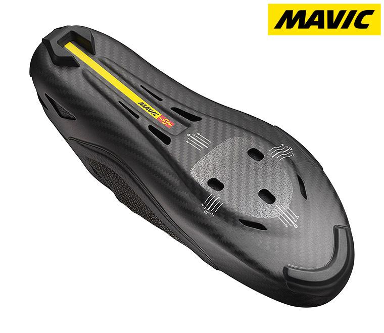 Dettaglio della suola della scarpa per ciclismo su strada Mavic Comete Ultimate 2