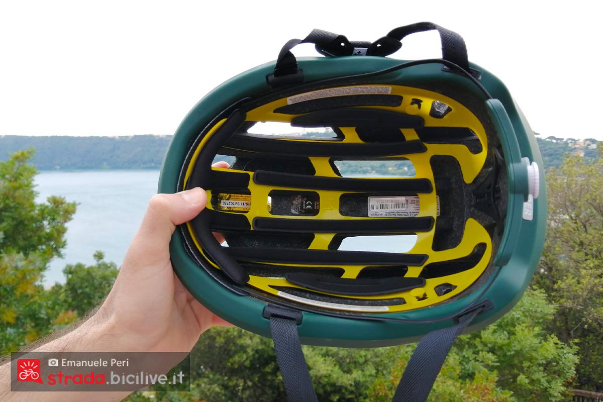 visuale interna del casco