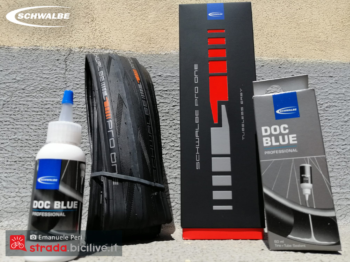 Il kit completo pneumatici Schwalbe Pro One Tubeless Easy