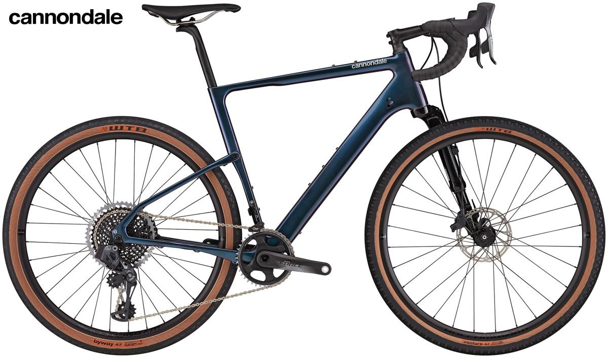 Una bici gravel Cannondale Topstone Carbon Lefty Oliver 1