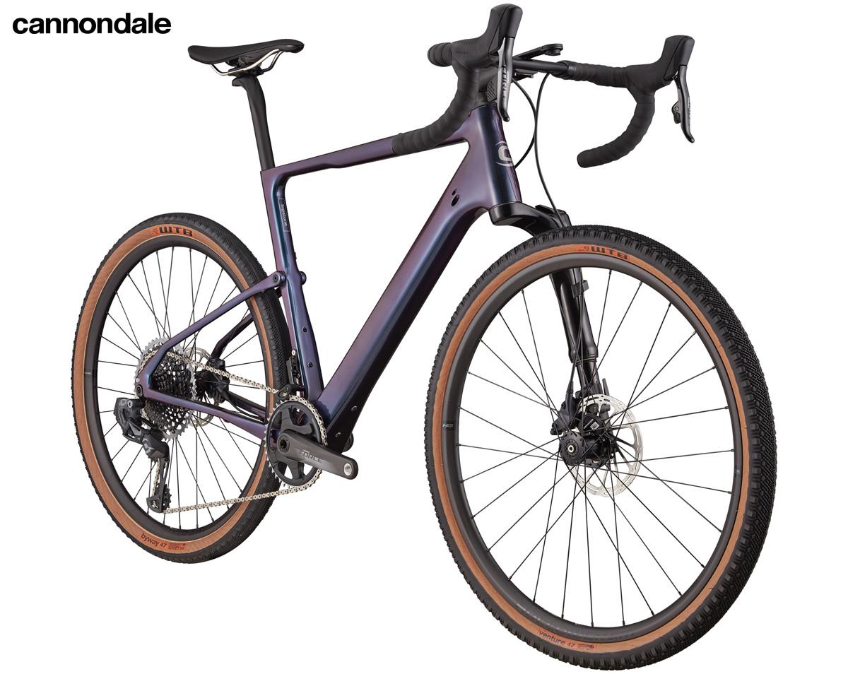 Una bicicletta gravel Cannondale Topstone Carbon Lefty Oliver 1