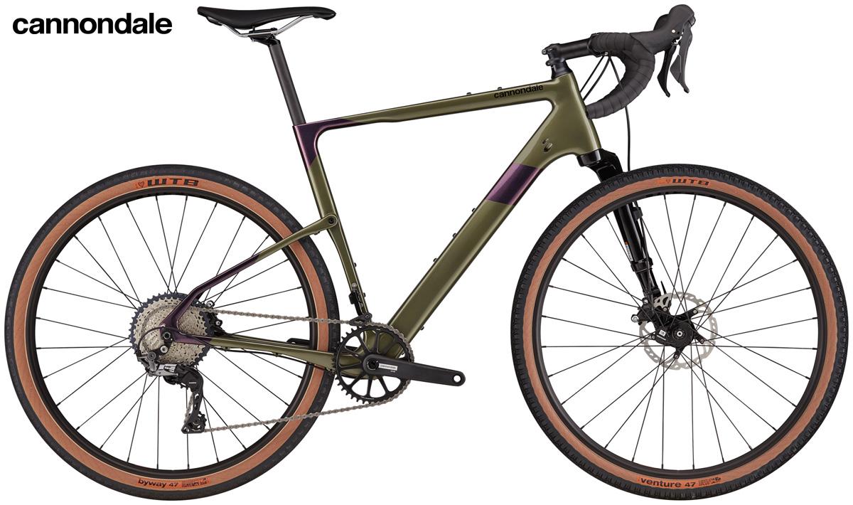 Una bici gravel Cannondale Topstone Carbon Lefty Oliver 3