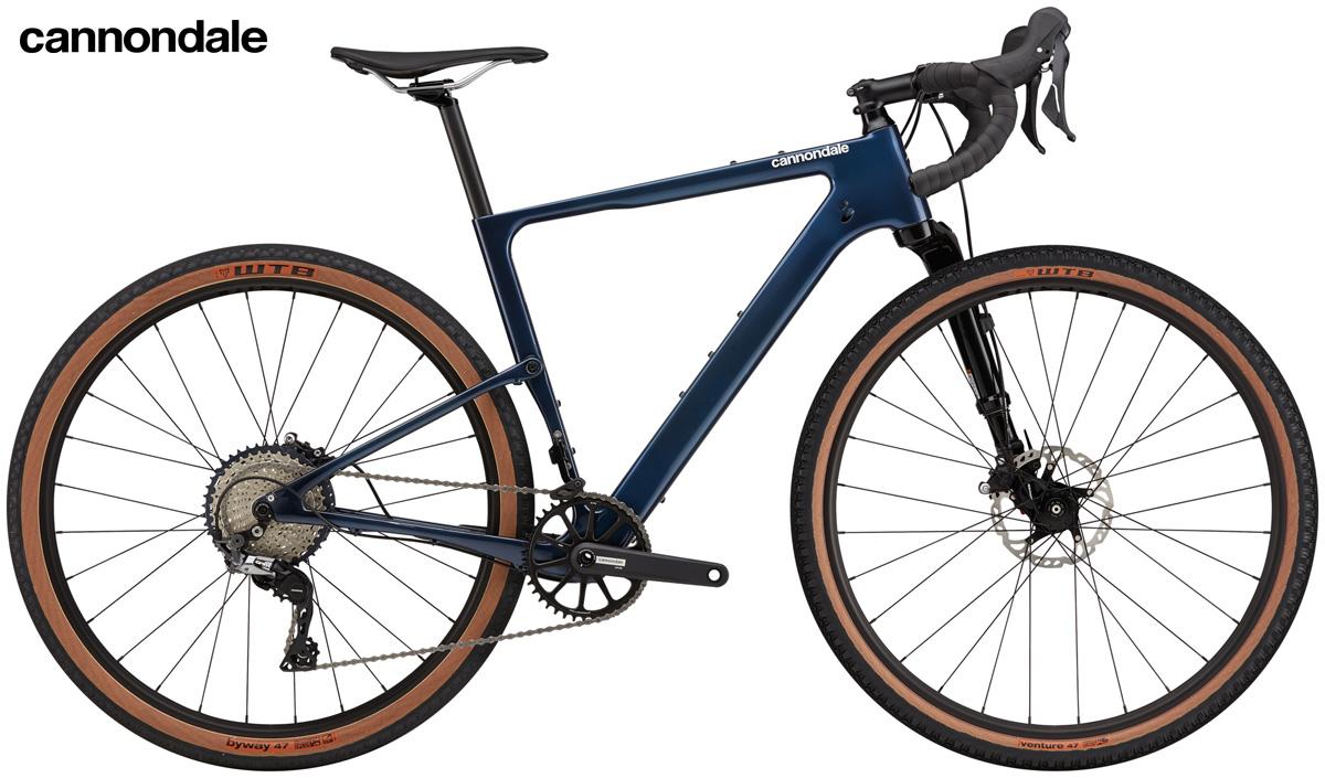 Una bici gravel Cannondale Topstone Carbon Lefty Oliver 3 Women
