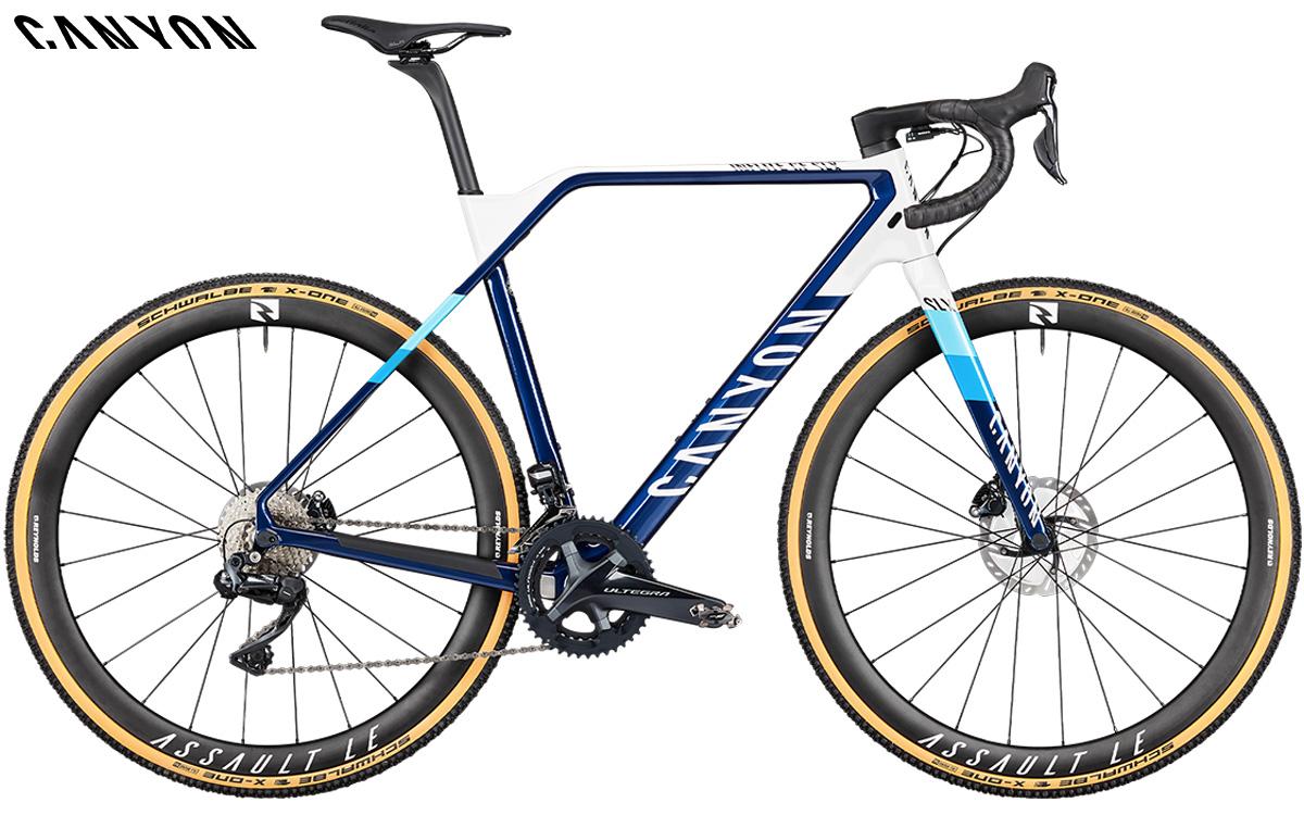 Bicicletta da ciclocross Canyon CF SLX 9 Team con gruppo Shimano Ultegra Di2 RX805 GS