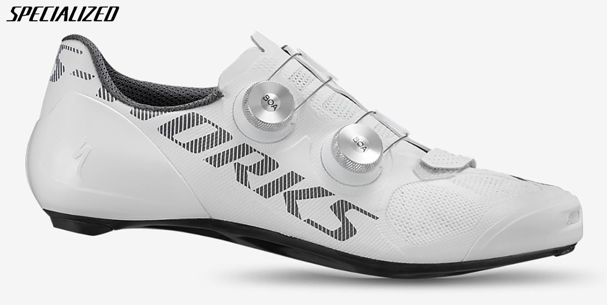 Visione laterale esterna della nuova scarpa per ciclismo stradale Specialized S-works Vent 2020