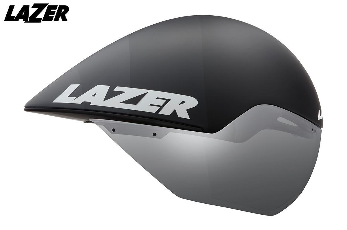 Vista laterale del nuovo casco per bici da crono Lazer Volante 2020