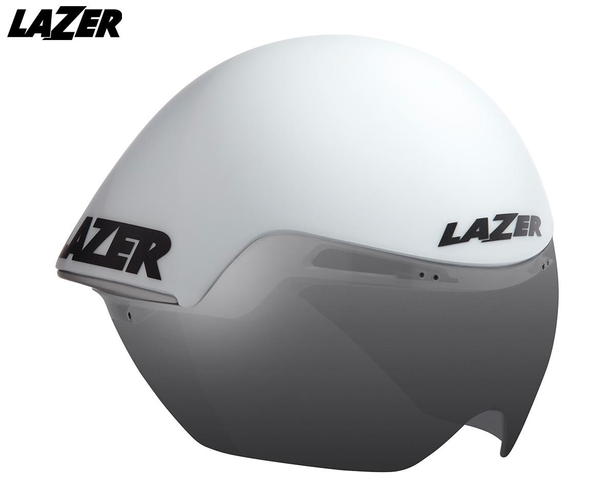 Vista a tre quarti del nuovo casco da bici crono Lazer Volante 2020
